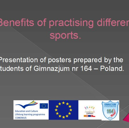 Benefits of practising different sports posters