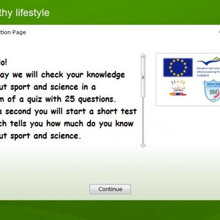 Healthy lifestyle - Quiz